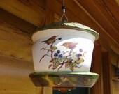 Little Thatch Roof Hut Ceramic Bird Feeder