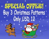 Buy 3 Christmas Digital Patterns for Only USD 12