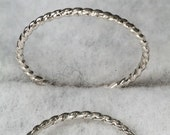 Braided Wire Sterling Silver Spacer Band Ring & Stacking Ring
