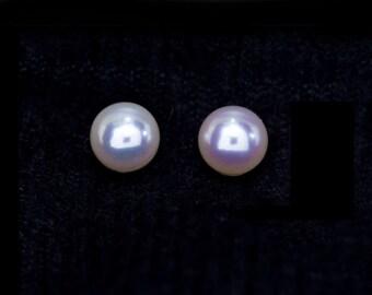 Freshwater Pearl Stud Earrings, June Birthstone Studs