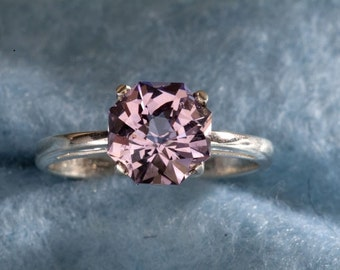 Rose de France Amethyst  Rose Petal Cut  Unique Engagement Ring & February Birthstone