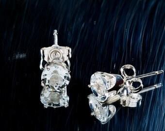 2 Carat White Topaz Sterling Stud Earrings