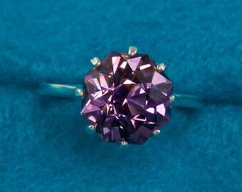 7 Carat  Rose Petal Cut Blended Ametrine Unique Engagement Ring
