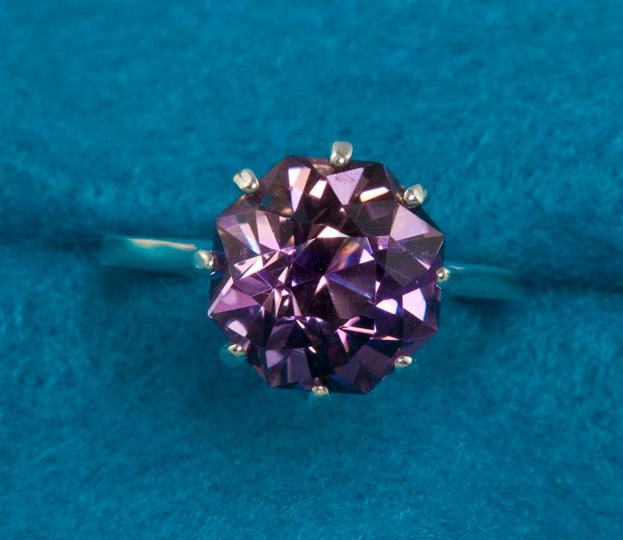 7 Carat Rose Petal Cut Blended Ametrine Unique Engagement