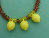 Lemon Iced Tea Necklace