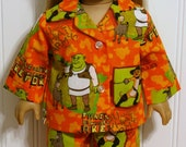 American Girl Doll Clothes SHREK and FRIENDS Cotton Pajamas - Made in America