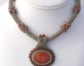 Maid Marion Beadwoven Necklace