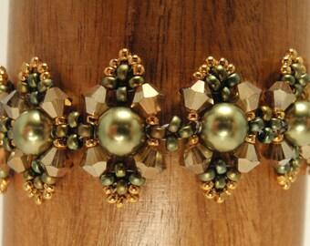 Beading Tutorial for Galadriel's Circlet of Elanor, jewelry pattern, beadweaving tutorials, instant download, PDF