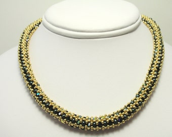 Beading Tutorial for Regency Rope Necklace, jewelry pattern, beadweaving tutorials, instant download, PDF