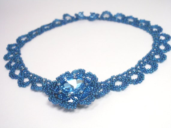 Instructions for Angelina Necklace - Beading tutorial