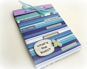 What's the Buzz Blue and Purple Notebook, New and Recycled Materials