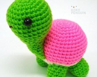 PDF Pattern Amigurumi Happy Turtle