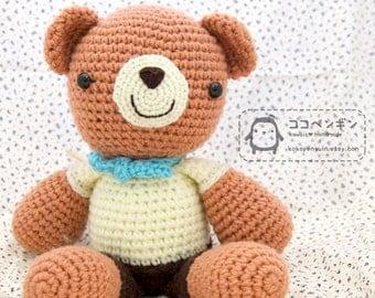 PDF Pattern Benny and Bobby The Twins Big Bear Amigurumi Huggie Plush Doll