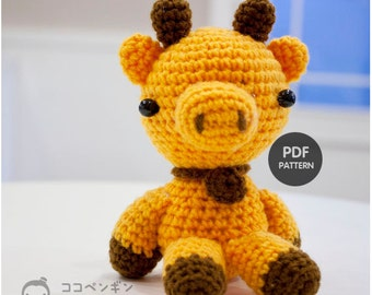 PDF Pattern Little Giraffe or Cow or Pig Whatever you love to call Amigurumi Doll