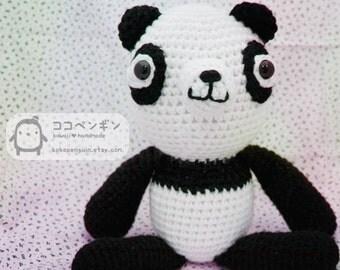 PDF PATTERN  Big Huggie Panda Amigurumi Crochet Doll