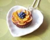 Orange and chocolate tart pendant