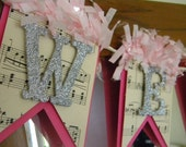 Welcome Baby Banner - Glitter Banner - Baby Shower Decor - Nursery Decor - Pink