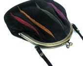 80s Suede Rainbow Purse
