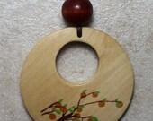 SALE Nursing Necklace with Orange Tree Breastfeeding Baby Wearing