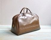 Vintage Pleather Carryall Bag