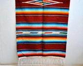 Saltillo Blanket Mexican Vintage