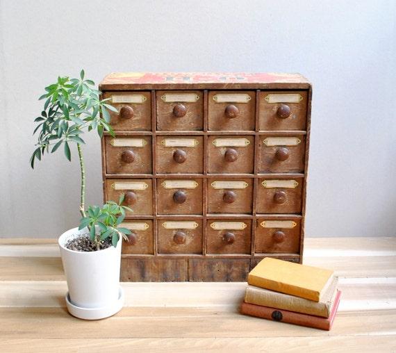 Vintage 16 Drawer Box