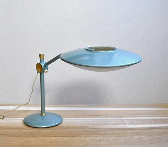 Mid Century Saucer Lamp