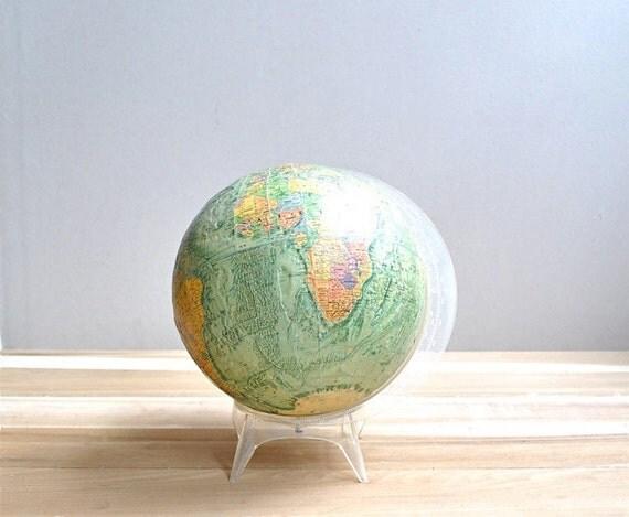 "Vintage 12"" World Globe"