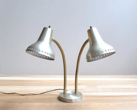 Mid Century Double Shade Lamp