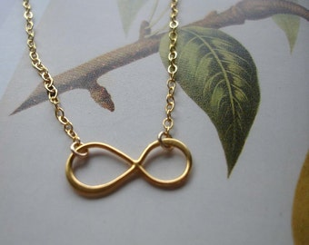 Infinity gold necklace, eternity gold necklace, figure 8 gold vermeil necklace, infinity necklace, eternity necklace, forever gold necklace