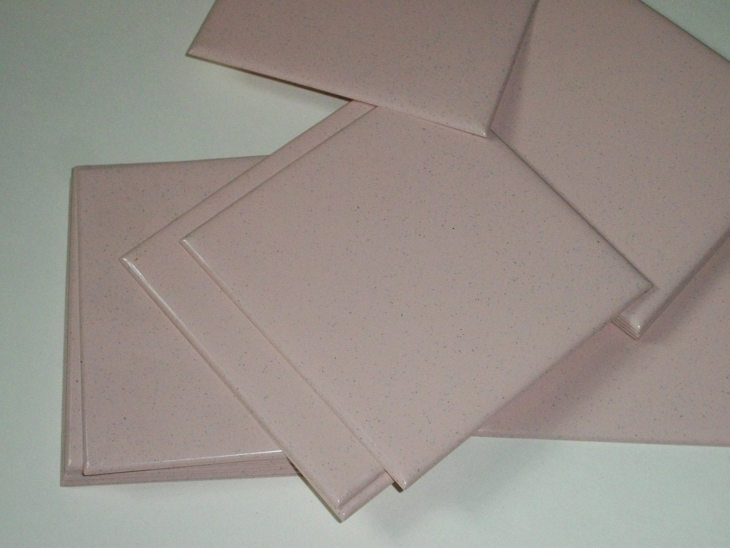 Small Vintage Lot Of Pink Plastic Wall Tile 4 25 By