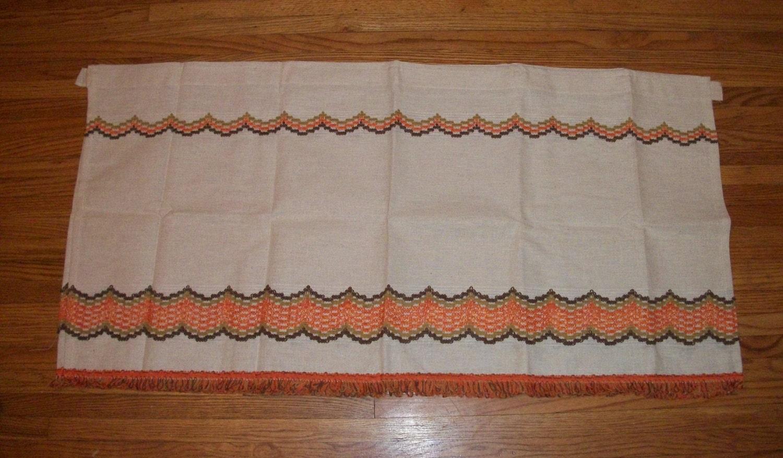 Orange And Brown Kitchen Curtains