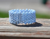 Beaded Light Blue Ring