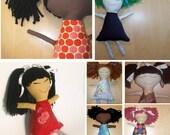 Custom handmade Ethnic Rag Dolls