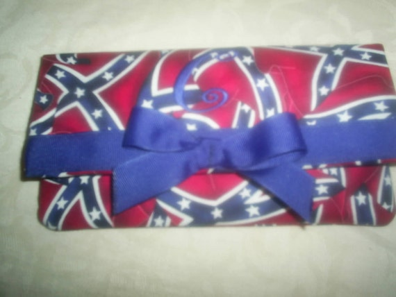 Custom Handmade Dixie rebel flag and camo realtree  wallet private listing for Suzi