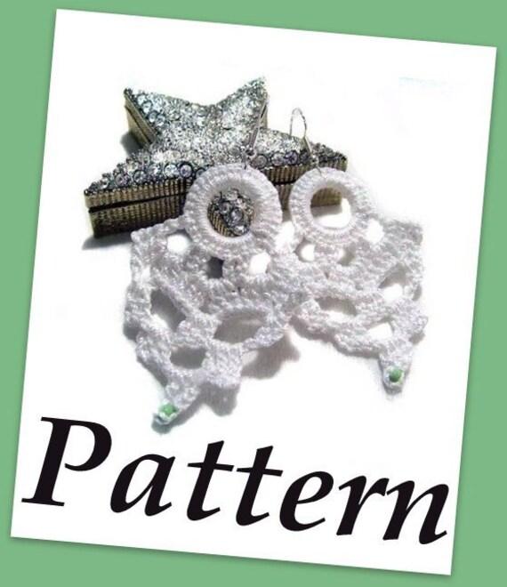 Tear drops crochet earrings PDF pattern