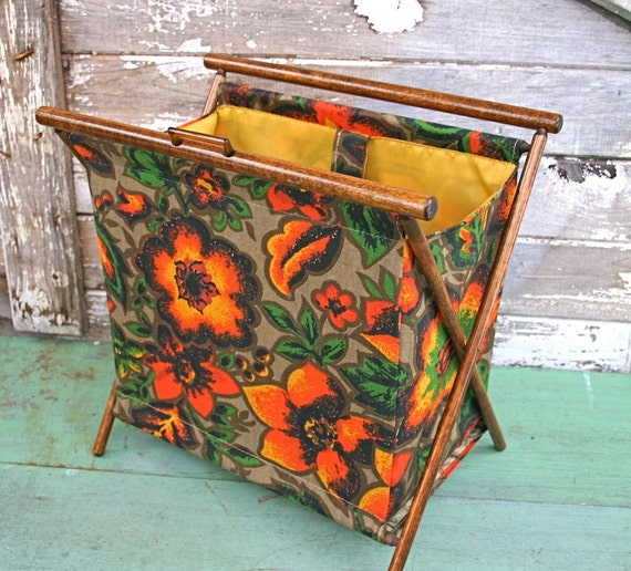 Knitting Bag Stand : Vintage knitting sewing craft bag stand