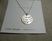 love you to the moon and back  sterling silver pendant and chain