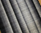 Cotton Throw Rug Black White Gray  2' by 3'