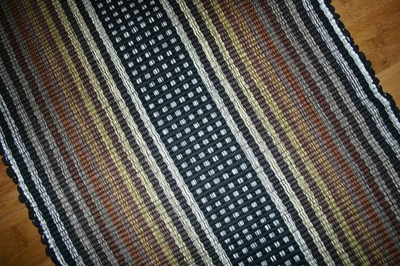 Machine Washable Cotton Rag Rug 2 39 X 3 39 In Black