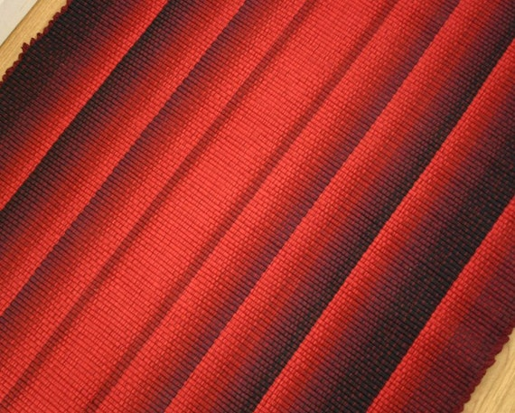 Intense Red Handmade Cotton Rag Rug