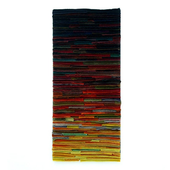 Abstract Textile Fiber Art Wallhanging / First Light