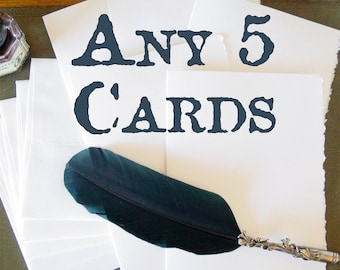 5-Pack of Handmade Cards - Pick Your Assortment