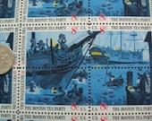 Boston Tea Party Bicentennial Stamps