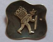 Mexican Silver Brooch Traveller