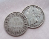 1890s Newfoundland 20 Cent Coin Sterling Silver