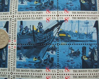 Boston Tea Party Bicentennial Stamps