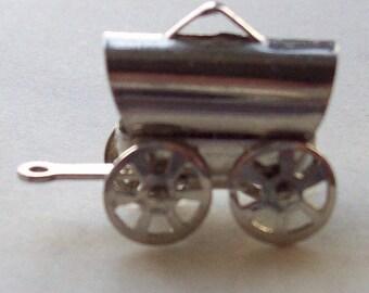 Conestoga Wagon Pendant Charm Sterling Silver