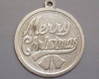 Merry Christmas 70s Sterling Silver Charm