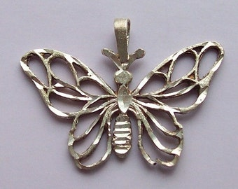 Butterfly Pendant Sterling Silver